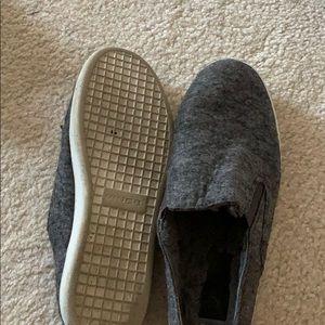 vince mule sneakers fur lined felt grey verrel